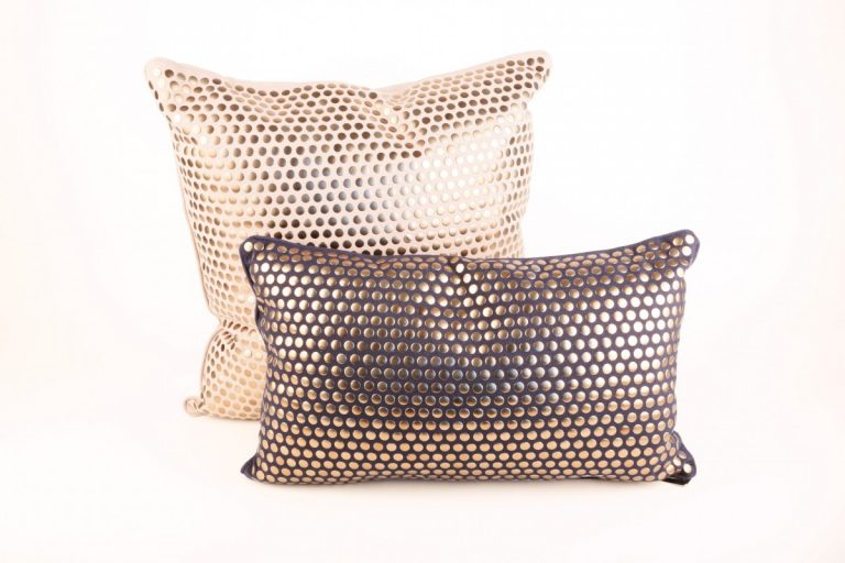 Brown Pillow with Copper Studs (1)