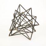 Black Geometric Sculpture