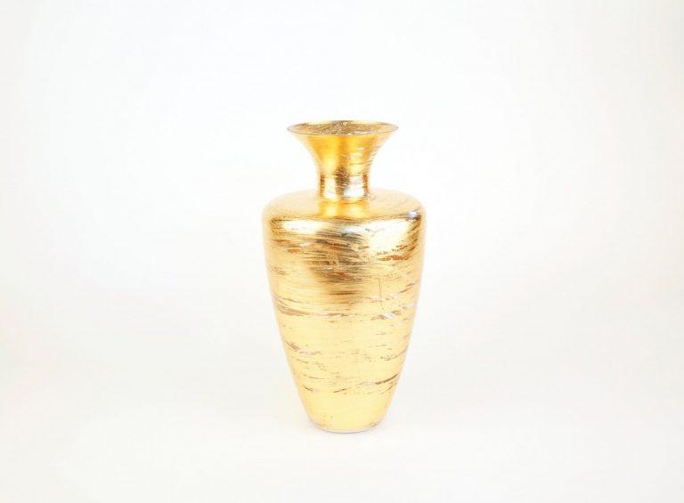 Brushed Gold Glass Vase