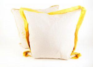 White Pillows with Yellow Trim (2)