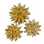 Brushed Gold Metallic Spiked Spheres (3)