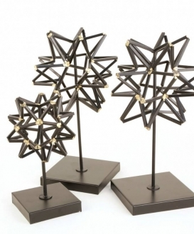 Geometric Sphere Sculptures (3)