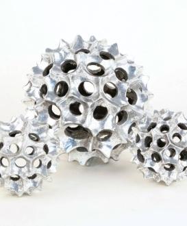 Decorative Silver Spheres (3)