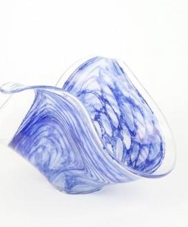 Handblown Cobalt Blue Glass Bowl