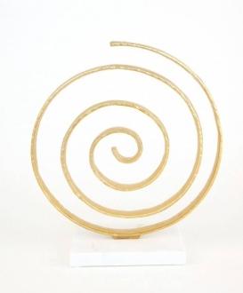 Gold Spiral Sculpture