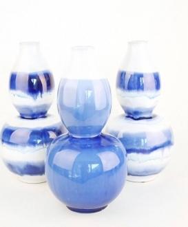 Blue & White Ceramic Vases