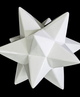 White Ceramic Geometric Star
