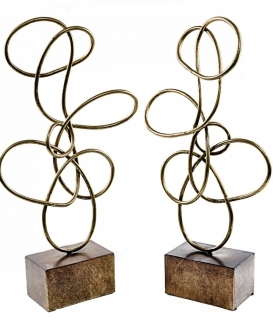 Twisted Gold Wire Sculptures(2)